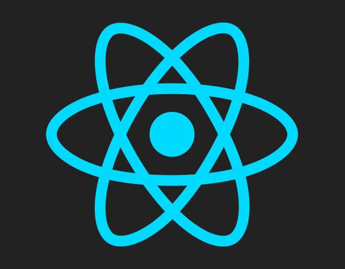 CC-BY Facebook, resized - https://commons.wikimedia.org/wiki/File:React.js_logo.svg